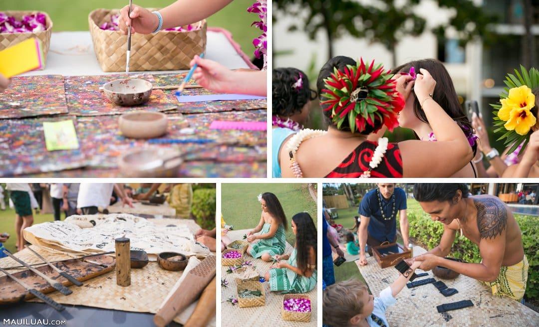Hawaiian cultural displays